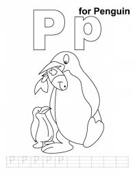 penguin coloring pages penguin free alphabet coloring pages