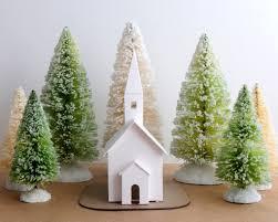 christmas ornament putz house diy kit cabin glitter house