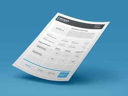 indesign invoice template 7 free indesign format download
