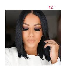 center part bob hairstyle human hair lace front wig brazilian hair straight middle part bob