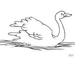 floating swan coloring page free printable coloring pages