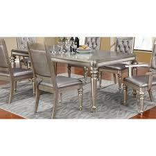 Coaster Dining Room Table Coaster Danette Dining Table In Metallic Platinum 106471