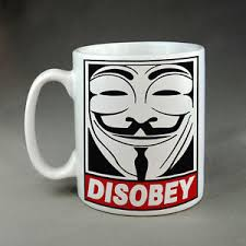 Guy Fawkes Mask Meme - anonymous anon disobey guy fawkes mask meme mug hacker hacktivist