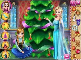 play frozen perfect christmas tree game to help princess anna to