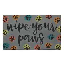 Wipe Your Paws Rubber Backed Doormats Rugs Home Decor Kohl U0027s