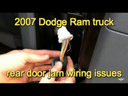 2007 dodge ram 3500 door wiring problem youtube
