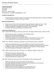 pharmacy technician experience for resume professional resumes