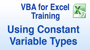 vba tutorial how to use constant variable types and variables