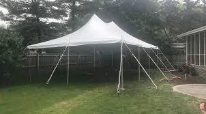 backyard graduation party with 20 u0027 x 30 u0027 and pole tent in