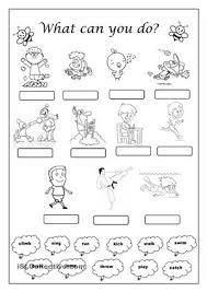 verb worksheet for kindergarten verb worksheets guruparentsverb