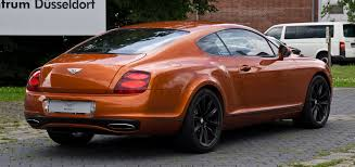bentley orange file bentley continental supersports u2013 heckansicht 18 juli 2012