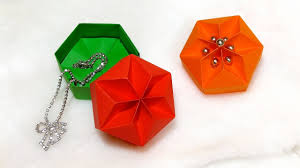 gift box really easy origami hexagonal box ideas for easter