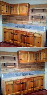 kitchen cabinets made out of pallet wood beautiful wooden pallets kitchen cabinet wooden pallets