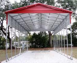 Steel Car Port 18 U0027 X 41 U0027 X 12 U0027 Vertical Roof Eco Friendly Steel Carport