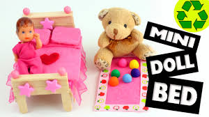 how to make a mini bed for lps lalaloopsy and barbie babies