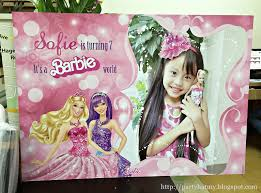 Barbie Birthday Invitation Cards Party Hat Barbie Birthday Party For Sofie