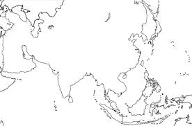 physical map of asia blank blank map of monsoon asia