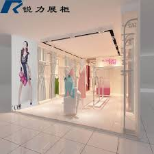 customized wall mounted garment showcase design for children