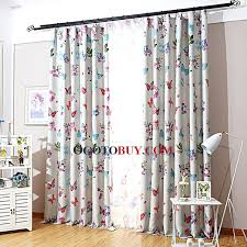 decorative country style floral curtains panels butterfly leaf