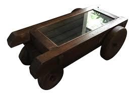 repurposed vintage iron u0026 wood mine cart coffee table chairish