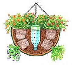 Diy Self Watering Herb Garden Diy Self Watering Hanging Basket Gardens Pinterest Gardens
