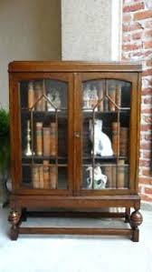 Vintage Bookcase With Glass Doors Bookcase Antique Bookcase Glass Doors Antique Carved