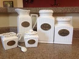 used thl ceramic 5 kitchen canister set ebay