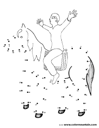 horse dot to dot activity coloring sheet create a printout or
