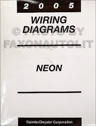 2005 dodge neon wiring diagram manual original
