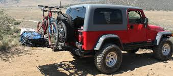 jeep wrangler beach cruiser bike racks for car suv jeep hitch trunk spare tire parking