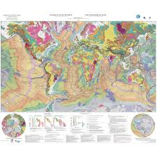 Geological Map Geological Map Of The World At 1 35 000 000 Ccgm Cgmw
