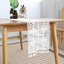 24 wide table runners amazon com elegant lace table runner with tassels retro macrame