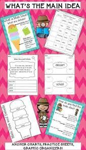 main idea and key details anchor chart teaching ideas