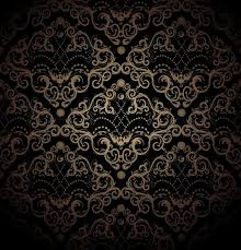 floral black and gold seamless royal ornament stock photo