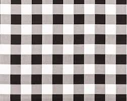Black And White Check Upholstery Fabric Buffalo Check Fabric Etsy