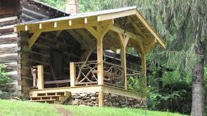 cabin porch rustic porch