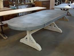 Zinc Table Top Oval Zinc Top Table Davelennard Com