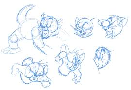 crowley creations sketches tom and jerry expressions
