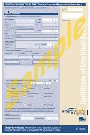 electrical minor works certificate template electricity tradespeople u2013 energy safe victoria