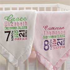 engraved blankets baby baby blanket with name and birth info machine embroidery idea