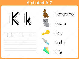 alphabet tracing worksheet writing a z u2014 stock vector aekikuis