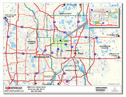 Map Of Twin Cities Metro Area by Economic Development Roseville Mn Official Website