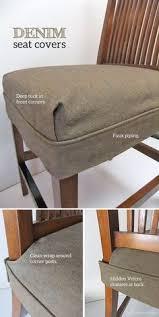 diy dining chair slipcovers tailored denim seat covers drop cloth slipcover seat covers and
