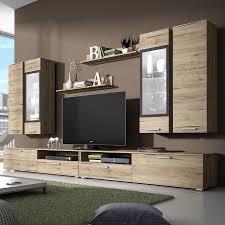 Meuble Tv Longueur Maison Et Mobilier D Intérieur Ensemble Meuble Tv Couleur Chêne Clair Et Gris Contemporain 2