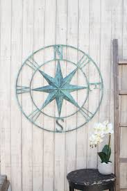 wood compass wall wall inspiring turquoise metal wall metal wall sculpture