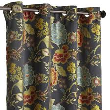 Curtains Floral Midnight Floral Grommet Curtain Pier 1 Imports