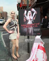 sharon needles and zombies unveil halloween peta ad campaign