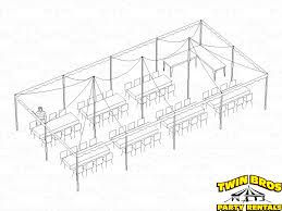 how many tables fit under a 10x20 tent 20x40 pole tent layouts pictures diagrams rentals