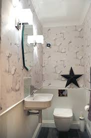wallpaper bathroom ideas downstairs loo grey contemporary room cole