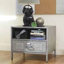 Metal Nightstands With Drawers Locker Bedside Table Pbteen